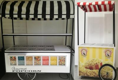 Two sizes available in our popcorn carts